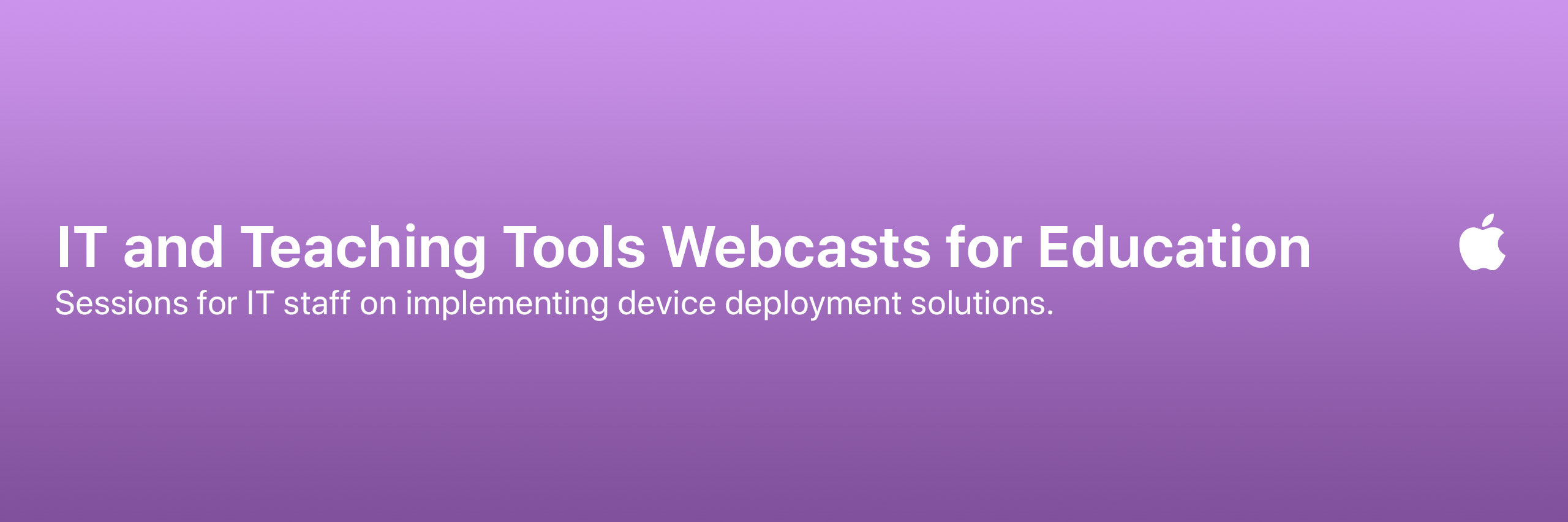 IT and Teaching Tools Webcasts for Education