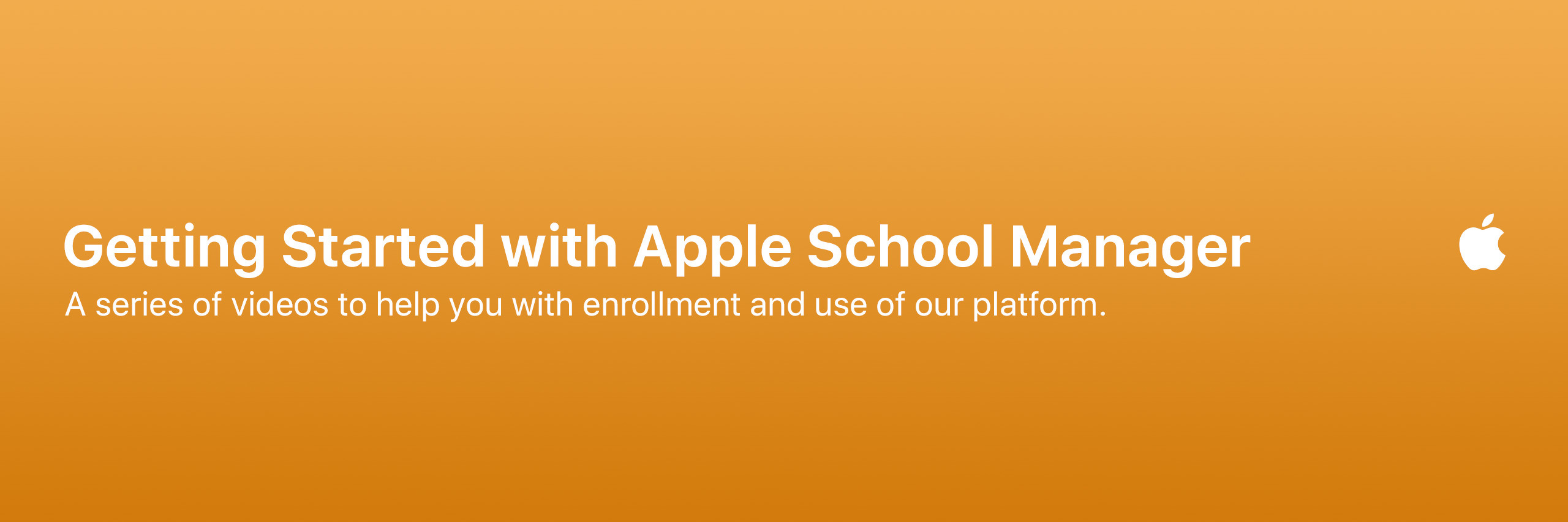 Getting Started with Apple School Manager