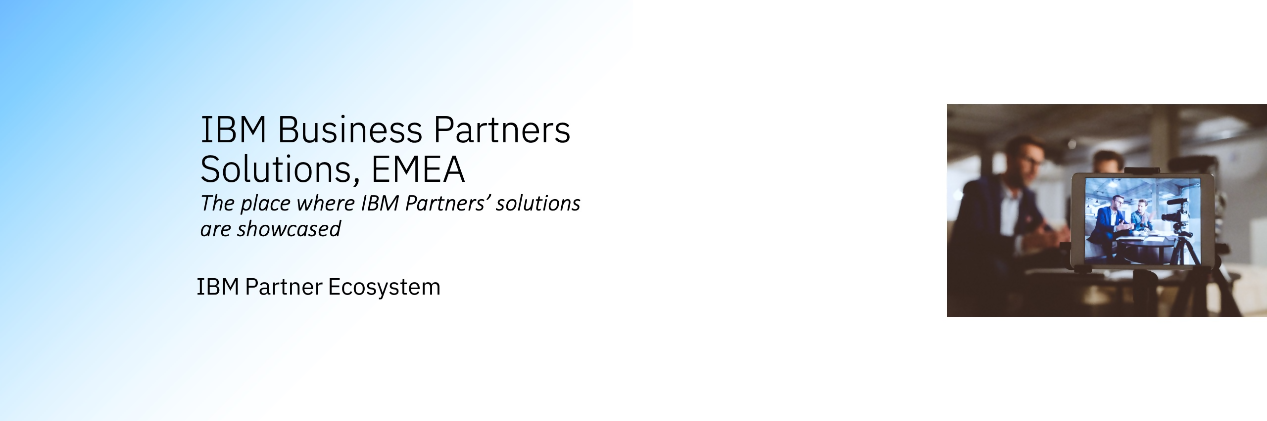 IBM EMEA Partners solutions