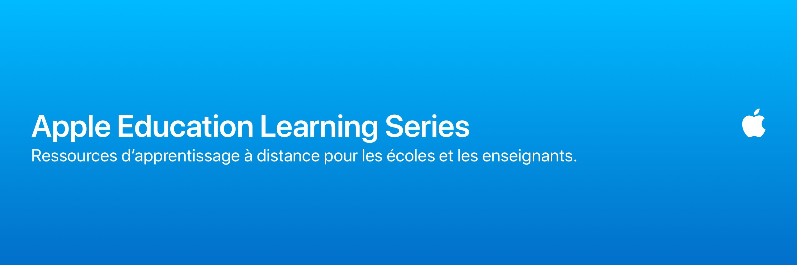 Apple Education Learning Series | Français