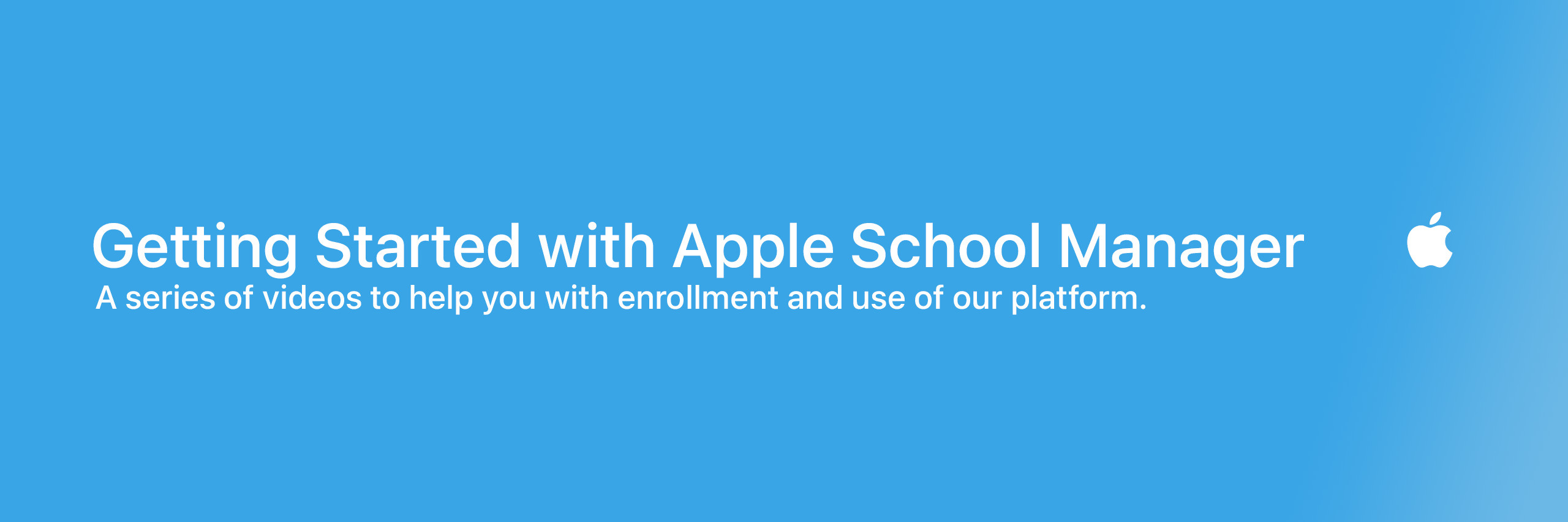 Getting Started with Apple School Manager (2021)