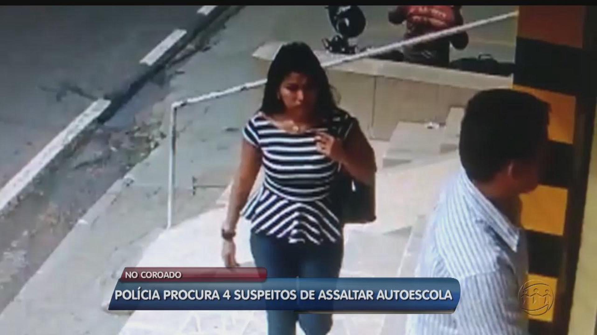 QUADRILHA ASSALTA AUTOESCOLA NO COROADO