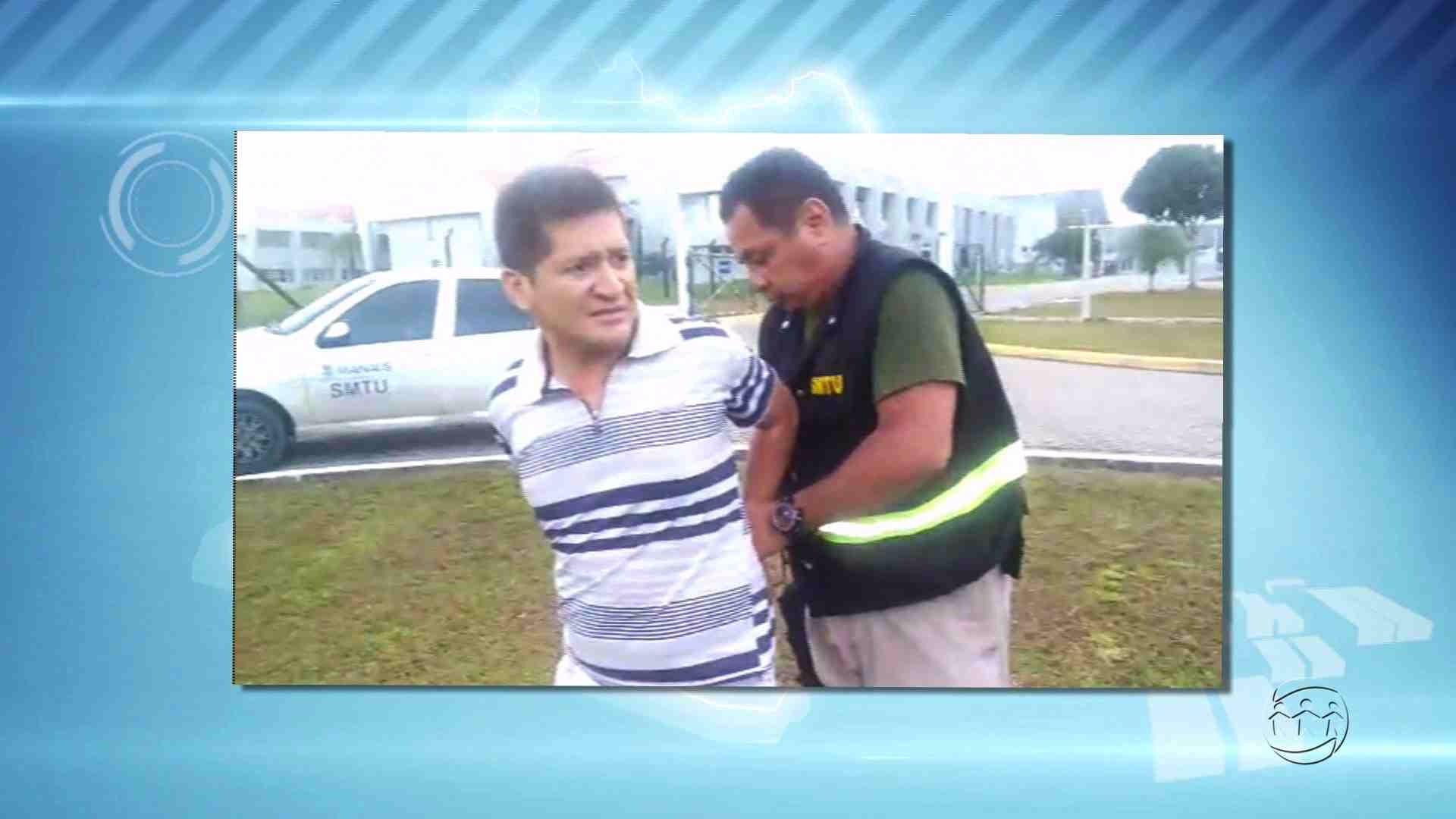 AGENTES DA SMTU ATIRAM EM VEÍCULO E ALGEMAM MOTORISTA - Alô Amazonas 24/04/17