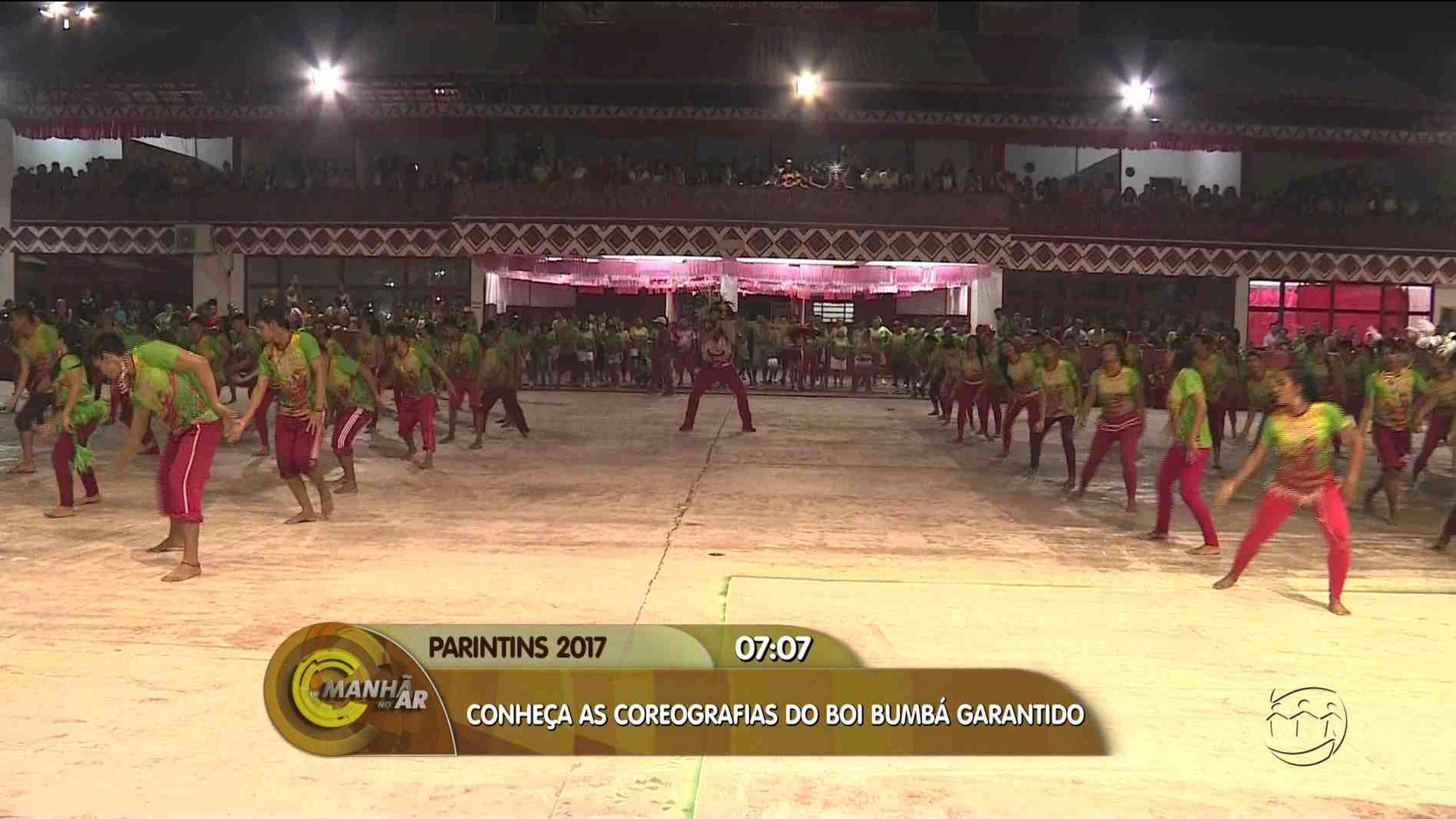 CONHEÇA AS COREOGRAFIAS DO BOI GARANTIDO - Manhã no Ar 27/06/17 - A Crítica na TV 27/06/2017