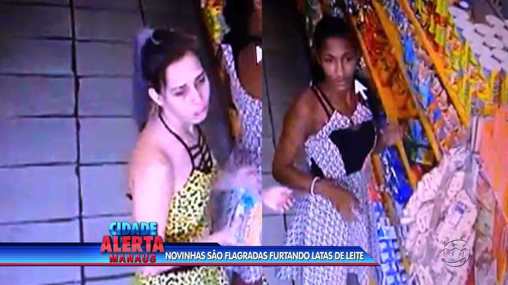 MULHERES ROUBAM LATAS DE LEITE E ESCONDEM EMBAIXO DA SAIA - Cidade Alerta Manaus 27/06/17 - A Crítica na TV 28/06/2017