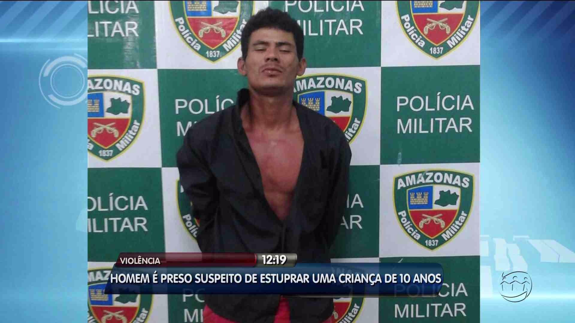 HOMEM SUSPEITO DE ESTUPRAR CRIANÇA É PRESO - Alô Amazonas - 14/08/17