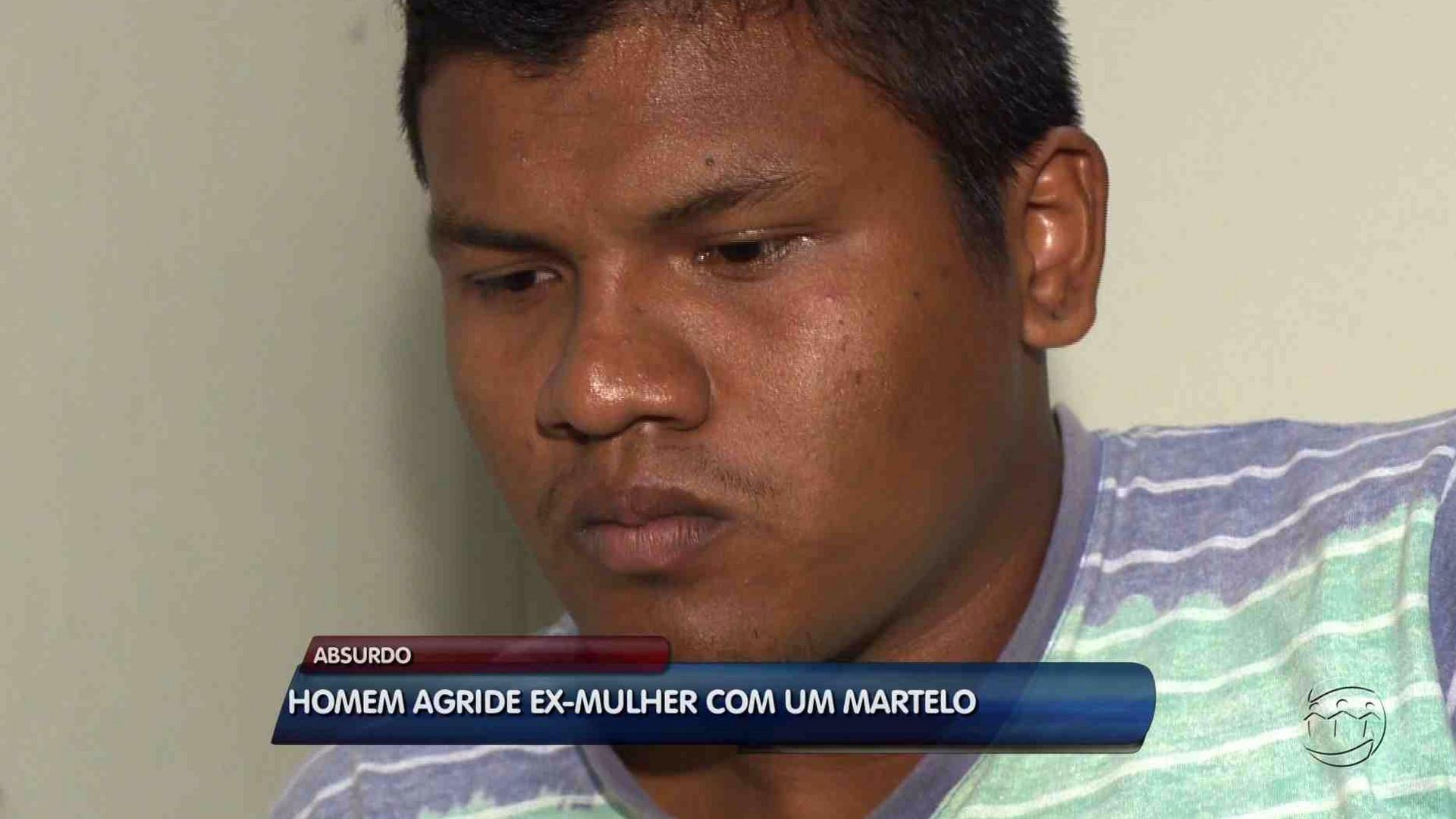 MULHER É AGREDIDA A MARTELADAS PELO EX-COMPANHEIRO - Alô Amazonas 15/08/17