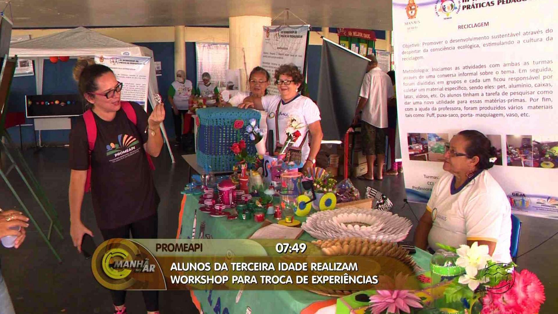 TERCEIRA IDADE: ALUNOS REALIZAM WORKSHOP PARA TROCA DE EXPERIÊNCIAS - Manhã no Ar 16/07/17