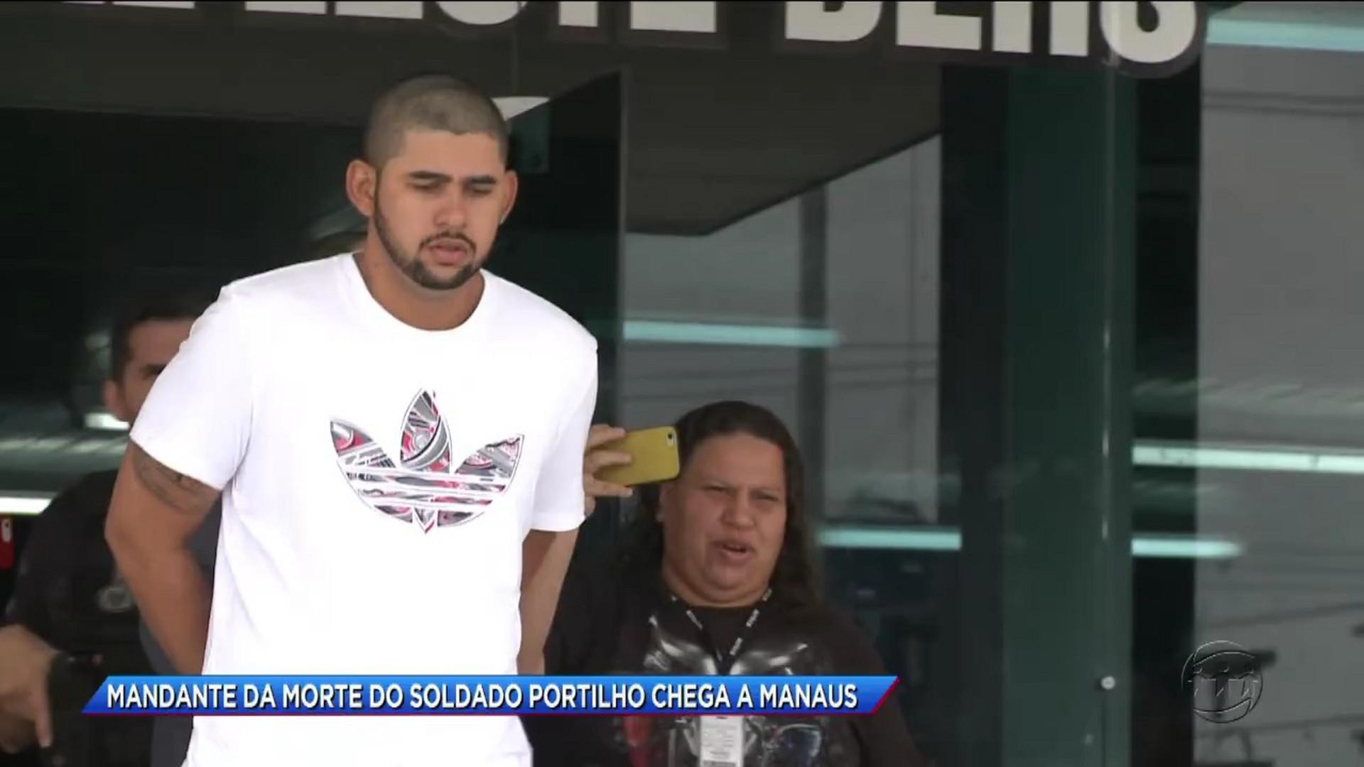 MANDANTE DA MORTE DO SOLDADO PORTILHO CHEGA A MANAUS - Cidade Alerta Manaus - 17/11/17 - Eventos 17/11/2017