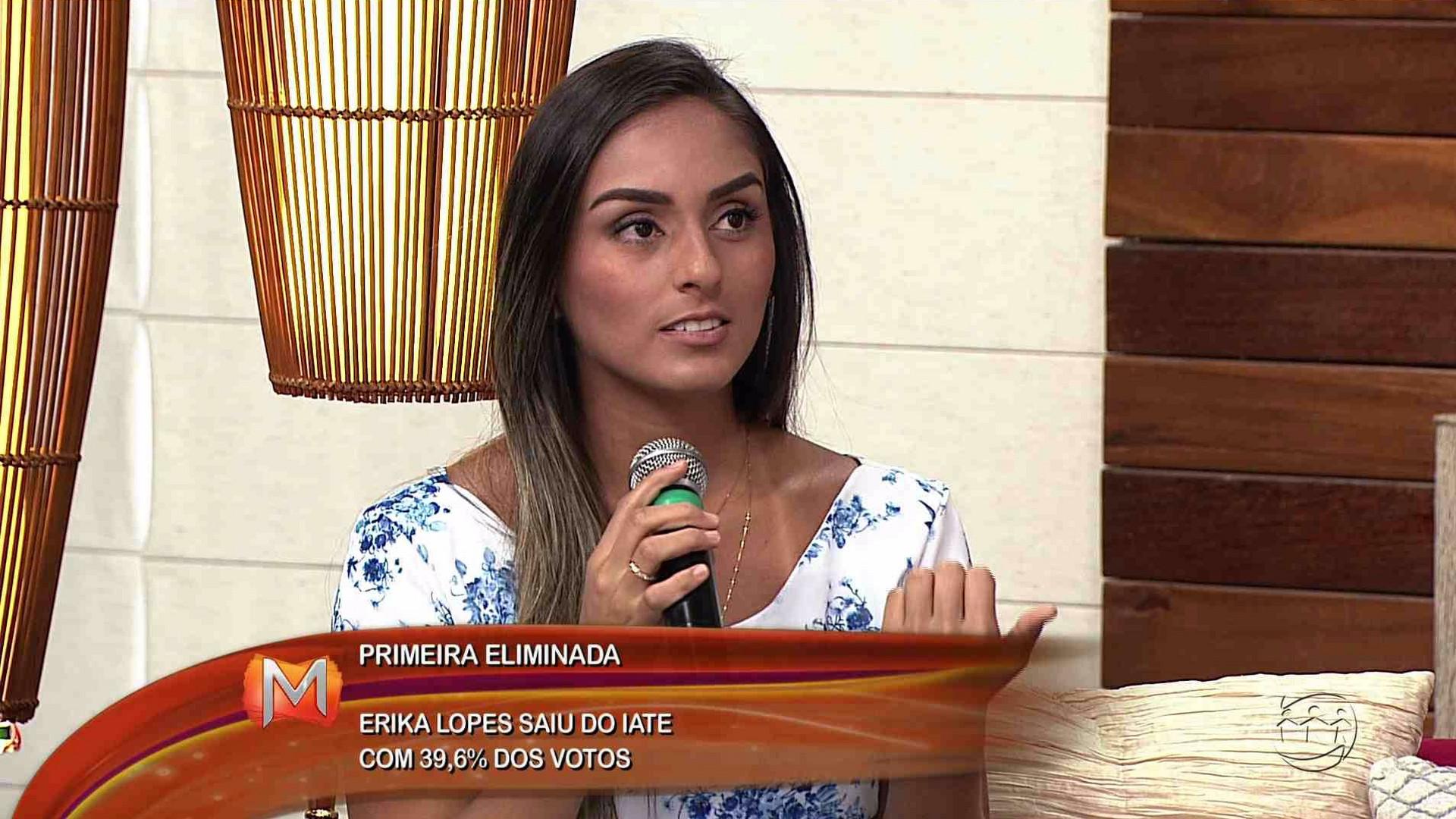 ENTREVISTA: ERIKA LOPES É A PRIMEIRA ELIMINADA DO PELADÃO A BORDO - Magazine 23/11/17