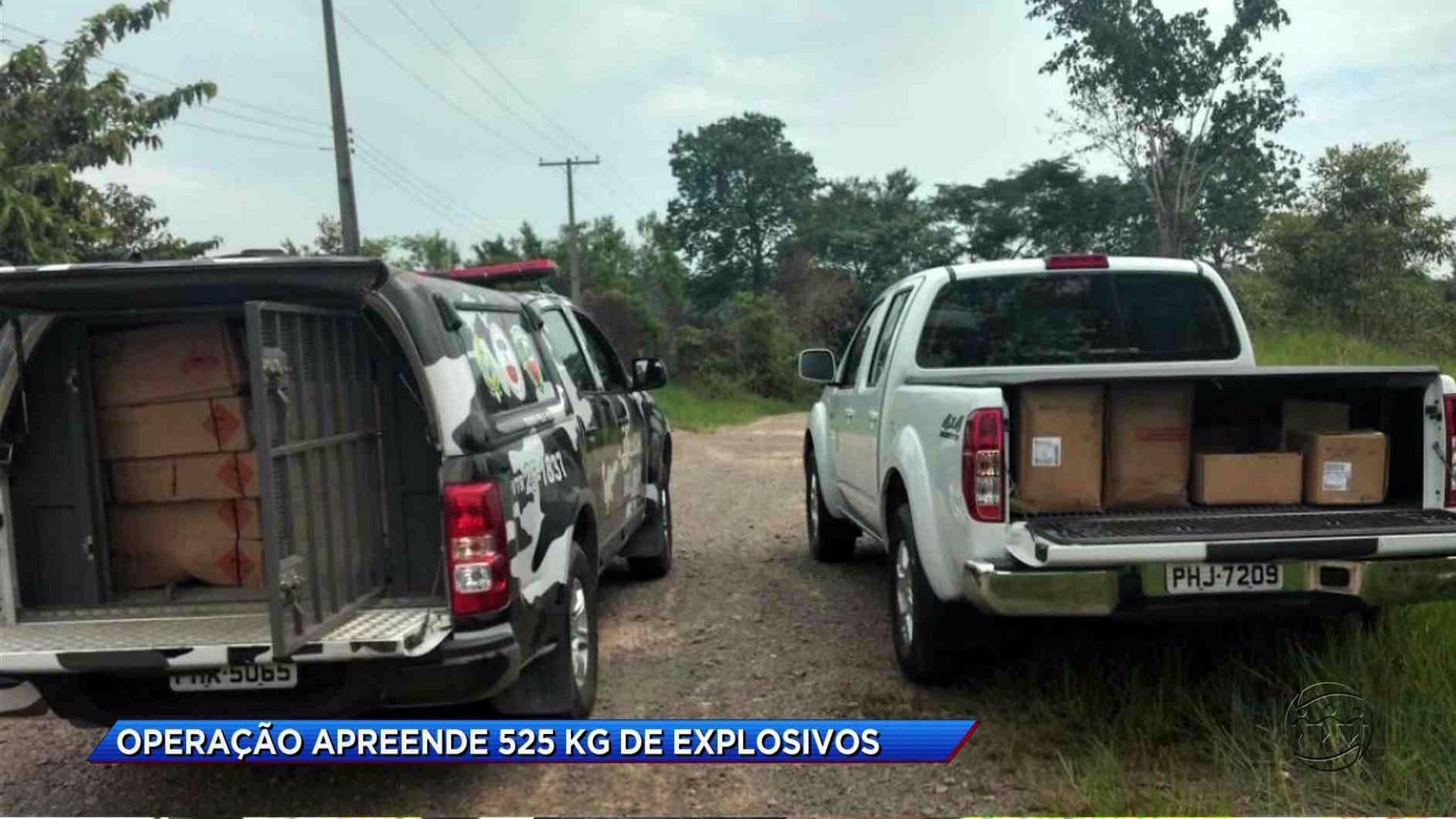 OPERAÇÃO APREENDE 525 KG DE EXPLOSIVOS IRREGULARES - Cidade Alerta Manaus 23/11/17 - Manhã no Ar 24/11/2017