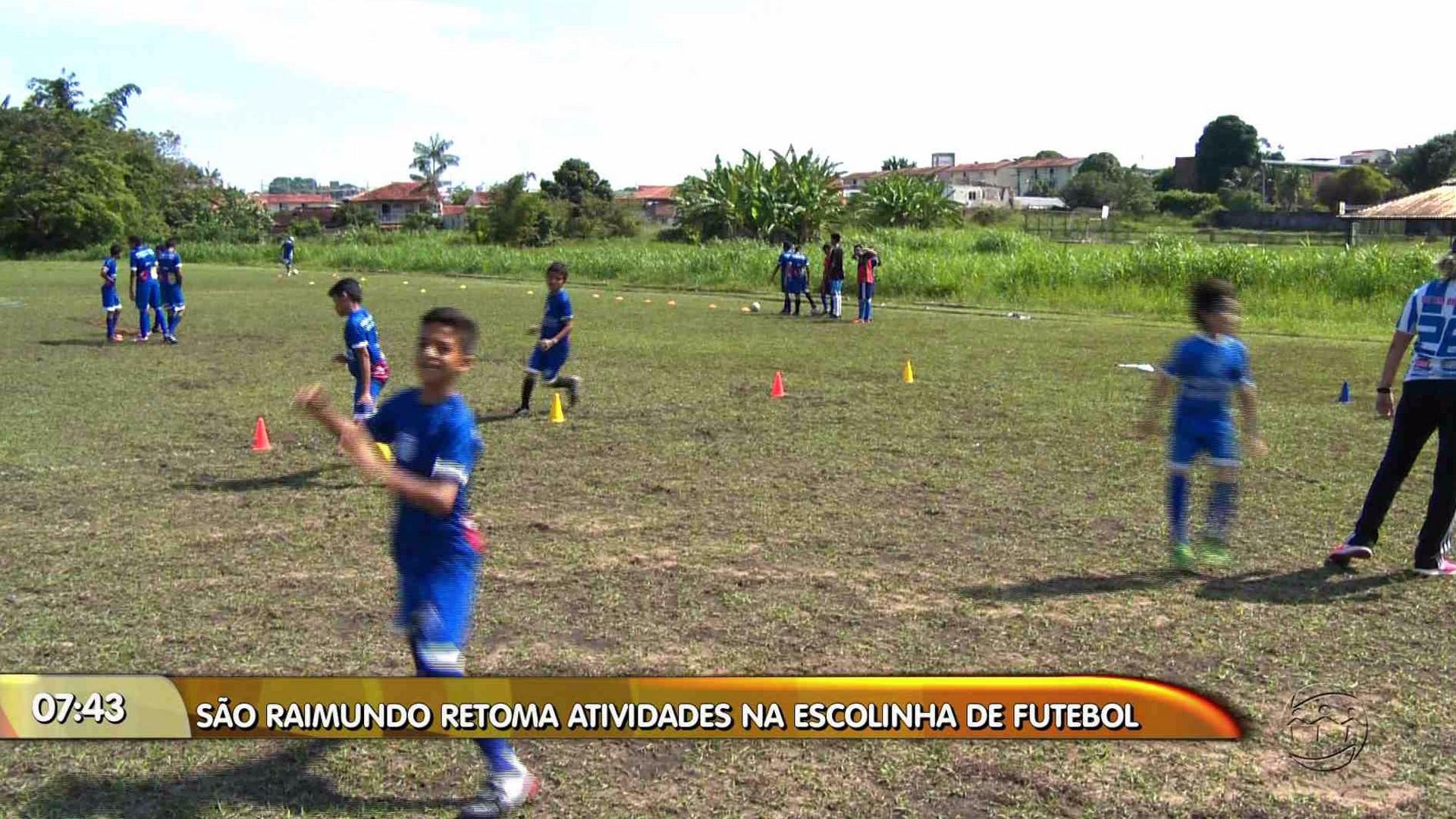 SÃO RAIMUNDO RETOMA ATIVIDADES NA ESCOLINHA DE FUTEBOL - Manhã no Ar 24/11/17