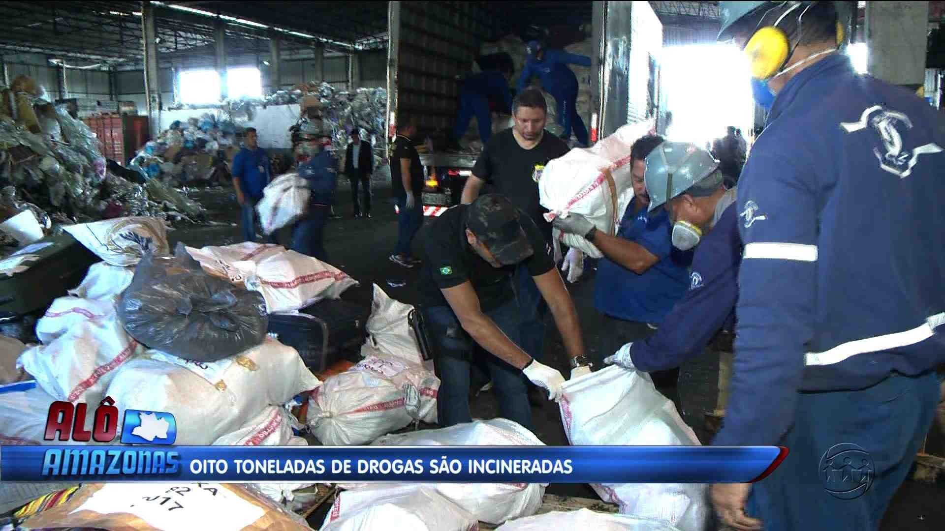 OITO TONELADAS DE DROGAS SÃO INCINERADAS EM MANAUS - Alô Amazonas 15/12/17