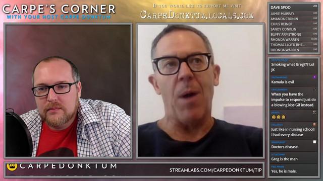 Carpe's Corner Episode 00015 with guest Greg Gutfeld