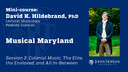 Session 2: Musical Maryland: Colonial Music