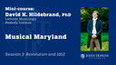 Session 3: Musical Maryland: Revolution and 1812