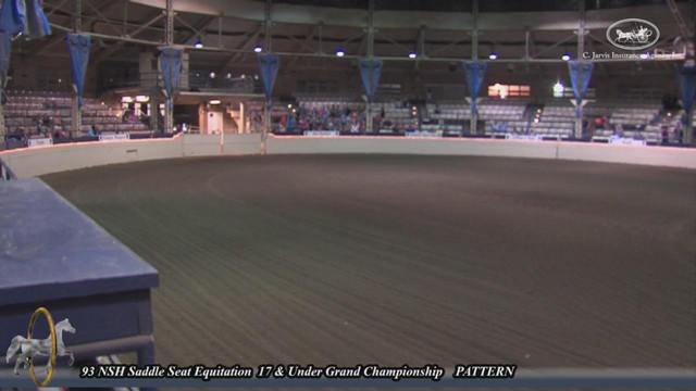 93 Nsh Saddle Seat Equitation 17 Under Grand Championship Pattern